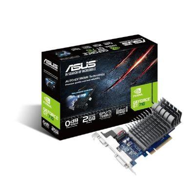 Asus GeForce GT 710 2-SL LP Silent 2GB PCIe DVI/HDMI/VGA passiv low profile - Preisvergleich