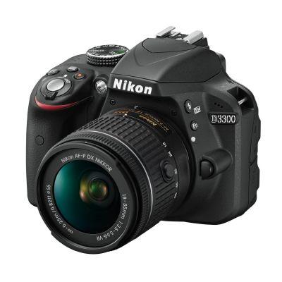Nikon D3300 Kit AF-P DX 18-55mm VR Spiegelreflexkamera schwarz - Preisvergleich