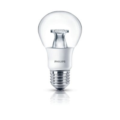 Philips E27 6W 827 LED-Lampe in Glühlampenform, warmglow