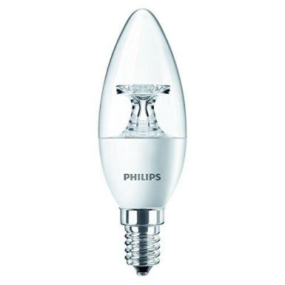 Philips E14 4W 827 LED-Kerzenlampe, klar