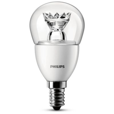 Philips E14 4W 827 LED-Tropfenlampe, klar