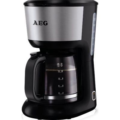 AEG  KF 3700 Kaffeeautomat Perfect Morning Schwarz Silber