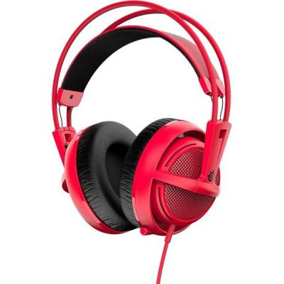 SteelSeries Siberia 200 kabelgebundenes Gaming Headset rot 51135