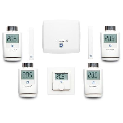 Homematic IP  Heizungs Set XL Zentrale Wandthermostat Heizkörperthermostat Fenste