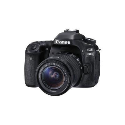 Canon  EOS 80D EF-S 18-55 IS STM Spiegelreflex Kamera,  EF-S 18-55mm f/3.5-5.6 Zoom