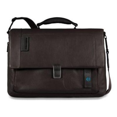Piquadro Pulse Laptoptasche mit Überschlag bis 15 zoll braun