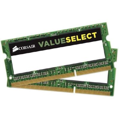 Corsair 16GB (2x8GB)  Value Select DDR3-1333 MHz CL 9 SODIMM Notebookspeicher