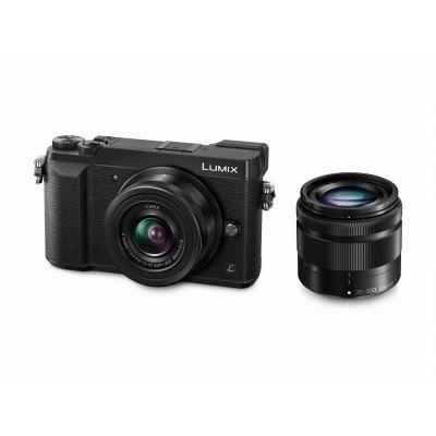 Lumix DMC-GX80 Kit 12-32mm + 35-100mm Systemkamera schwarz