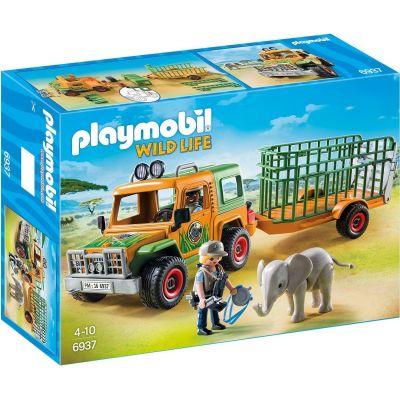 PLAYMOBIL – Rangergeländewagen mit Anhänger (6937)