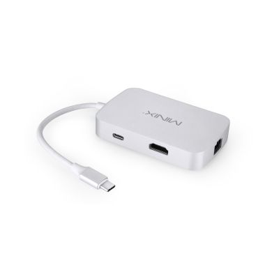 USB 3.0 Type C auf HDMI 4K / USB Typ A / Gigabit Ethernet silber NEO-C-HSI