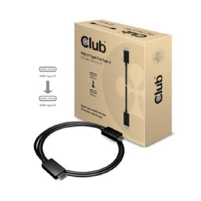 Club3d Club 3D Anschlusskabel USB3.1 Typ-C 0,8m 10Gb/s 4K60Hz Power Delivery CAC-1522