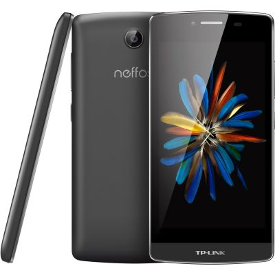 TP-LINK Neffos C5 LTE Dual-SIM dark grey Android 5.1 Smartphone