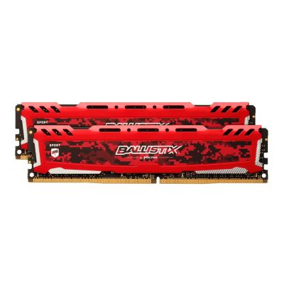 Ballistix 16GB (2x8GB)  Sport LT DDR4-2400 Rot CL16(16-16-16) RAM