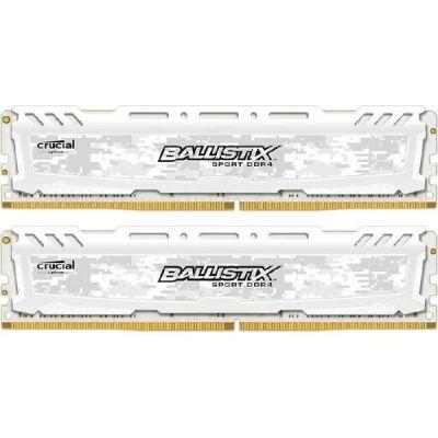 Ballistix 16GB (2x8GB)  Sport LT DDR4-2400 Weiss CL16 RAM