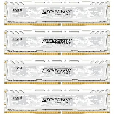 Ballistix 16GB (4x4GB)  Sport LT DDR4-2400 Weiss CL16 (16-16-16) RAM