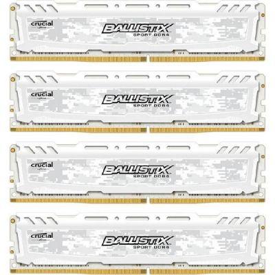 Ballistix 32GB (4x8GB) Crucial  Sport LT DDR4-2400 Weiss CL16 (16-16-16) RAM