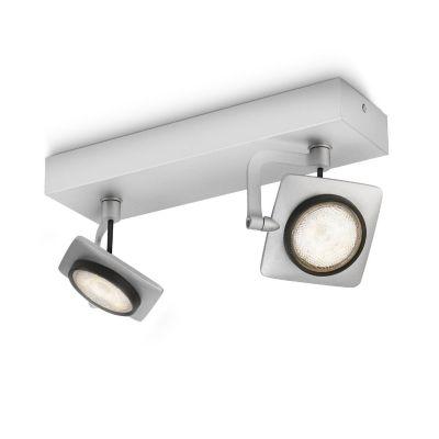Philips myLiving Millennium LED-Wand-/Deckenspot Aluminium