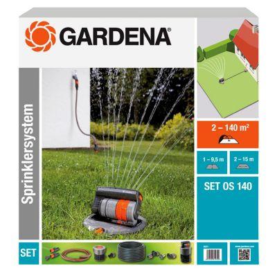 Gardena  8221-20 Komplett-Set mit Versenk-Viereckregner OS 140
