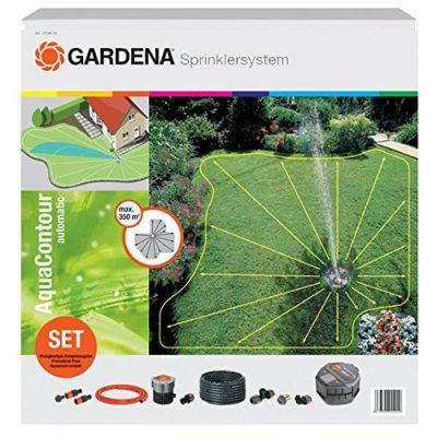 Gardena  2708-20 Komplett-Set mit Vielflächen-Versenkregner AquaContour automatic