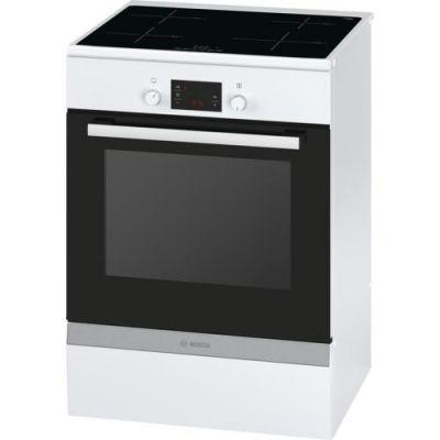 Bosch  HCA748220 Serie 6 Elektro-Standherd mit Induktions-Kochfeld 60cm Weiß