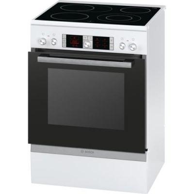 Bosch  HCA754820 Serie 4 Elektro-Standherd mit Glaskeramik-Kochfeld 60cm Weiß