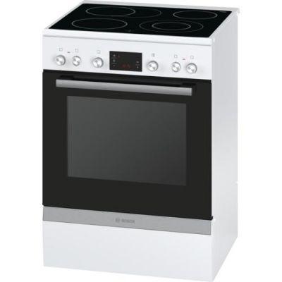 Bosch  HCA744320 Serie 4 Elektro-Standherd mit Glaskeramik-Kochfeld 60cm Weiß