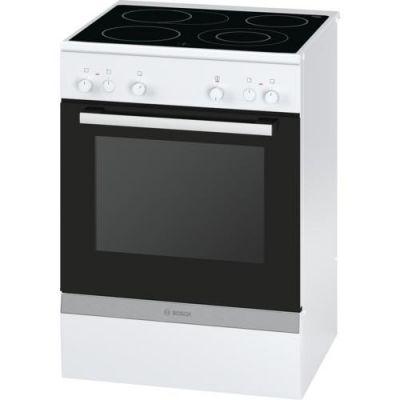 Bosch  HCA722220 Serie 4 Elektro-Standherd mit Glaskeramik-Kochfeld 60cm Weiß