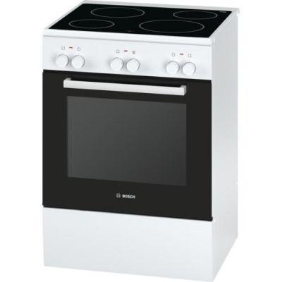 Bosch  HCA422120 Serie 4 Elektro-Standherd mit Glaskeramik-Kochfeld 60cm Weiß