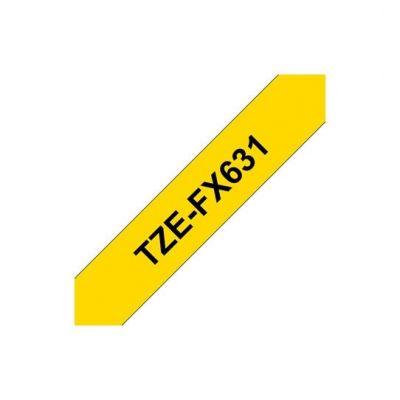 Brother TZe-FX631 Flexi-Tape - schwarz auf gelb - 12mm x 8m für P-Touch - Preisvergleich