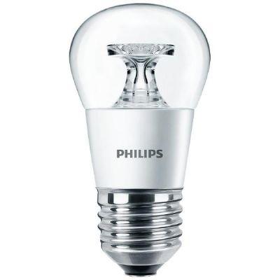 Philips E27 5,5W 827 LED-Tropfenlampe, klar