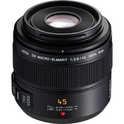 Panasonic Leica DG 45mm F/2.8 Makro-Elmarit OIS Objektiv für Lumix G (H-ES045E)