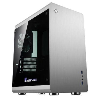 Cooltek  Jonsbo RM3 Mini Tower mATX Gehäuse mit Seitenfenster, USB3.0, Silber