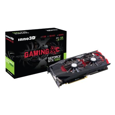 Inno3D  GeForce GTX 1060 Gaming OC X2 6GB GDDR5 Grafikkarte 3xDP/DVI/HDMI