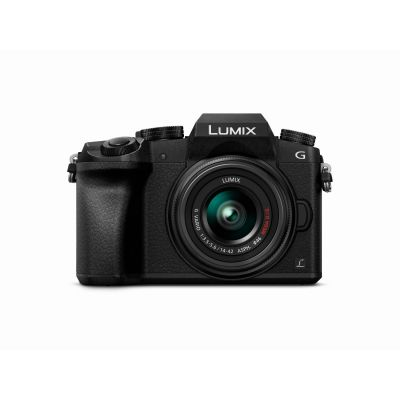 Panasonic Lumix DMC-G70 Kit 14-42mm Systemkamera schwarz
