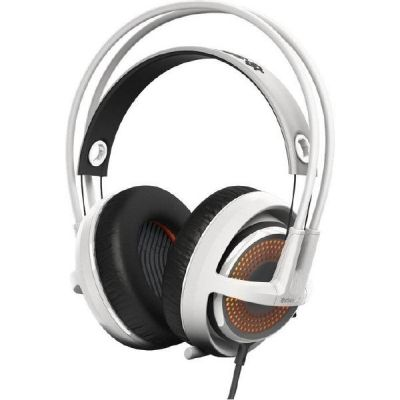 SteelSeries Siberia 350 kabelgebundenes Gaming Headset weiß / orange