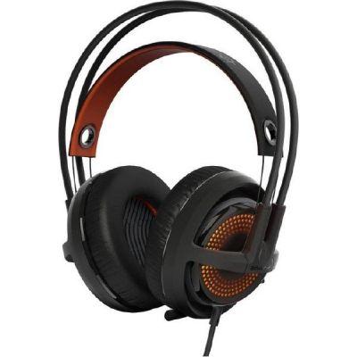 SteelSeries Siberia 350 kabelgebundenes Gaming Headset schwarz / orange