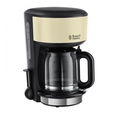 Russell Hobbs Russel Hobbs Colours Classic Cream Glas-Kaffeemaschine