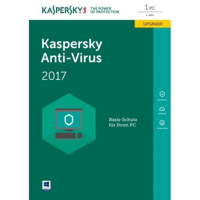 Kaspersky Anti-Virus 2017 Upgrade 1PC 1Jahr Minibox / Produkt Key