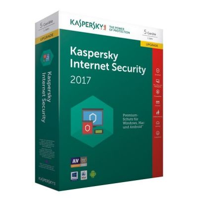 Kaspersky Internet Security 2017 5 Lizenzen Upgrade – Minibox, Product Key Card