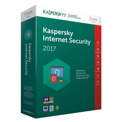 Kaspersky Internet Security 2017 3 Lizenzen Box...