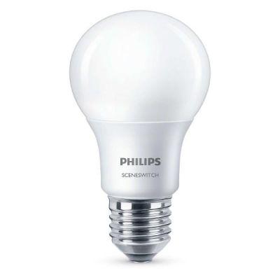 Philips E27 8W 827 LED-Lampe Scene-Switch matt
