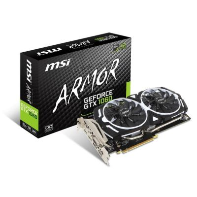 MSI GeForce GTX 1060 Armor 3G OC 3GB GDDR5 Grafikkarte DVI/2xHDMI/2xDP