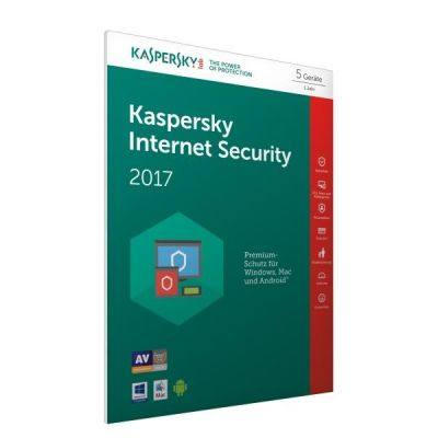 Kaspersky Internet Security 2017 5 Lizenzen – FFP, Product Key Card