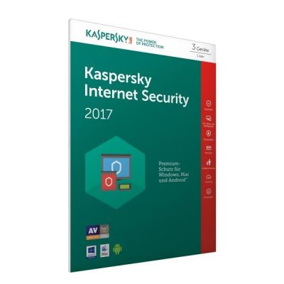 Kaspersky Internet Security 2017 3 Lizenzen – FFP, Product Key Card