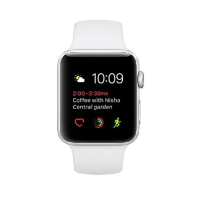 Apple  Watch Series 2 38mm Aluminiumgehäuse Silber mit Sportarmband Weiß