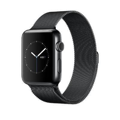 Apple Watch Series 2 38mm Edelstahlgehäuse Space Schwarz Milanaise Space Schwarz