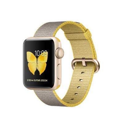 Apple  Watch Series 2 38mm Aluminiumgehäuse Gold Armband Nylon Gelb/Hellgrau