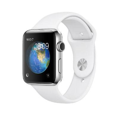 Apple  Watch Series 2 38mm Edelstahlgehäuse mit Sportarmband weiß