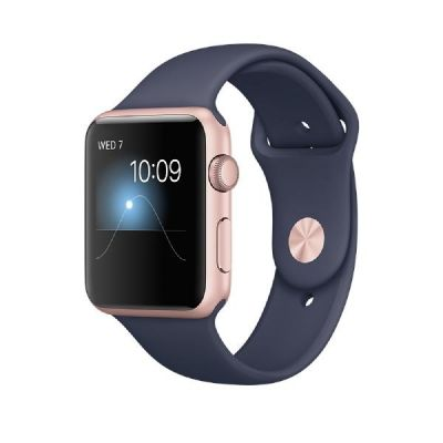 Apple  Watch Series 1 42mm Aluminiumgehäuse Roségold mit Sportarmband Blau
