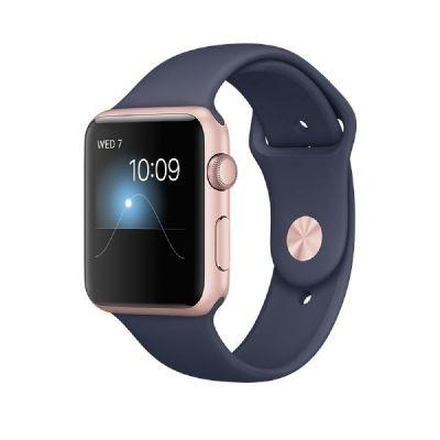 Apple  Watch Series 2 42mm Aluminiumgehäuse Roségold mit Sportarmband Blau